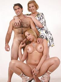 Female female male group sex
